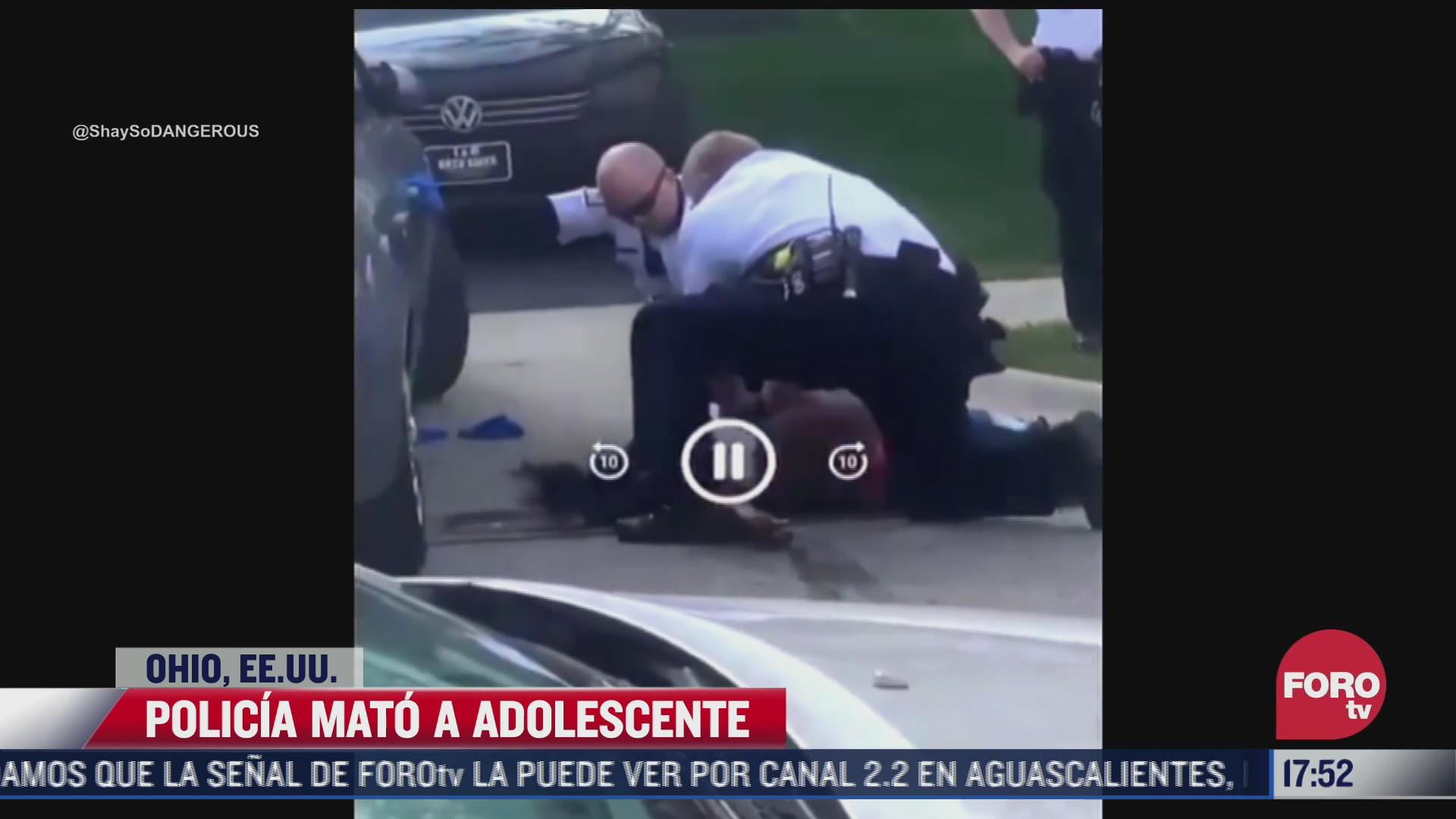 policia mata a adolescente en ohio