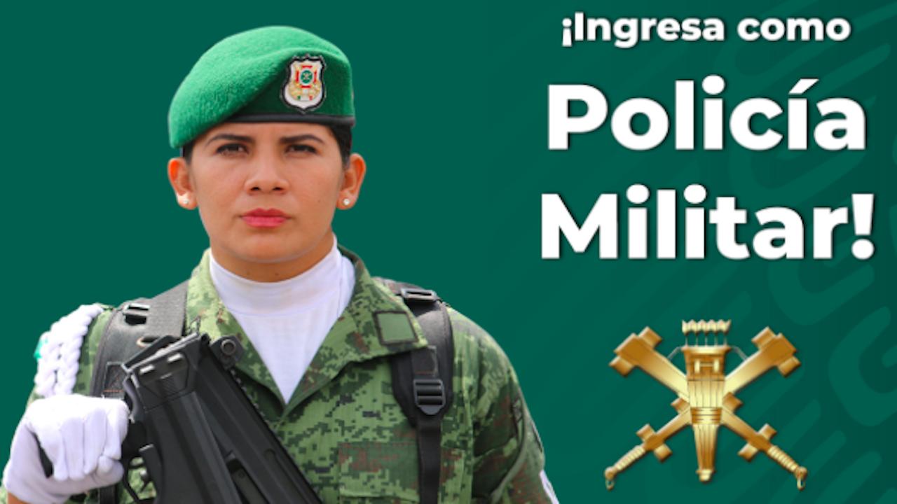 Requisitos para la vacante de Policía Militar para las mujeres
