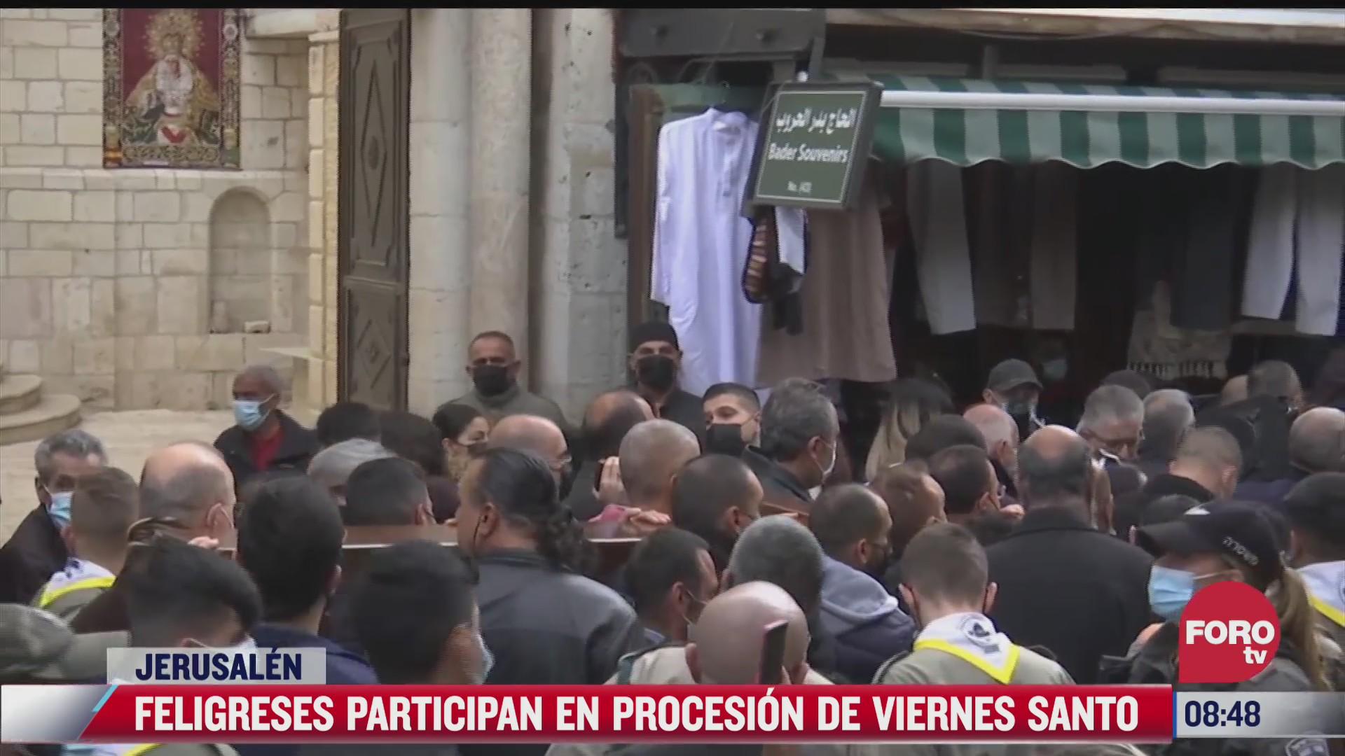 procesion del via crucis en jerusalen