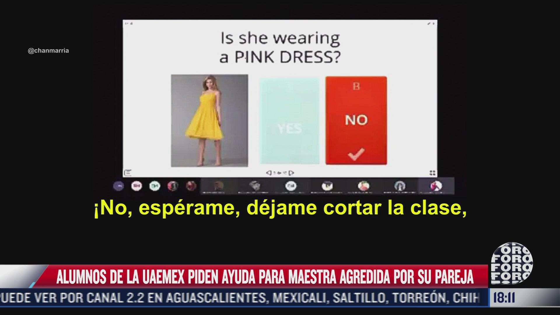 profesora es violentada por su pareja mientras imparte clases virtuales