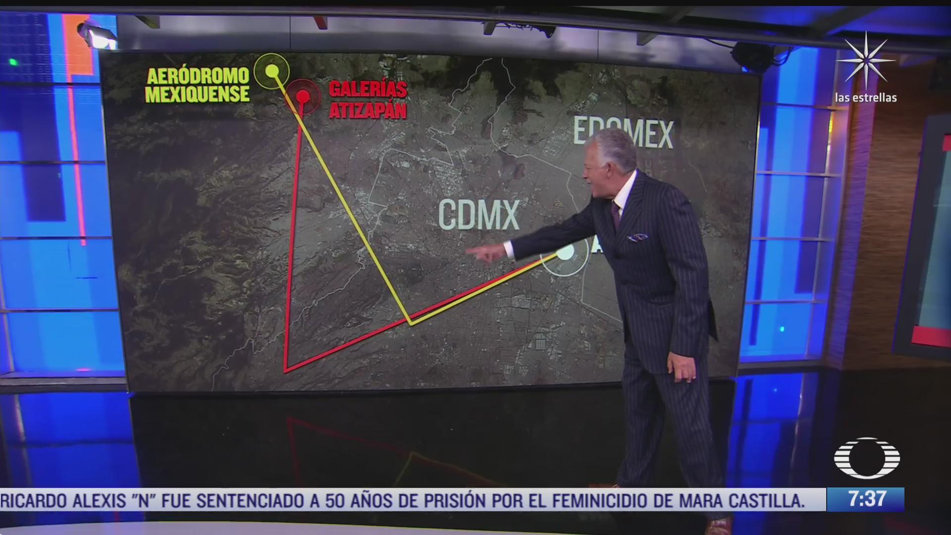 pros y contras del cambio de la ruta aerea en cdmx