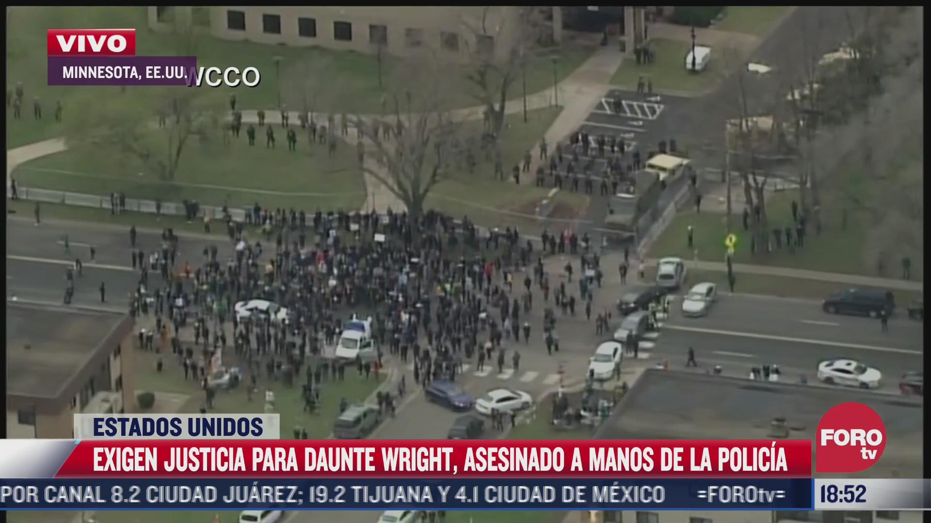 protestan en minnesota eeuu por homicidio de daunte wright