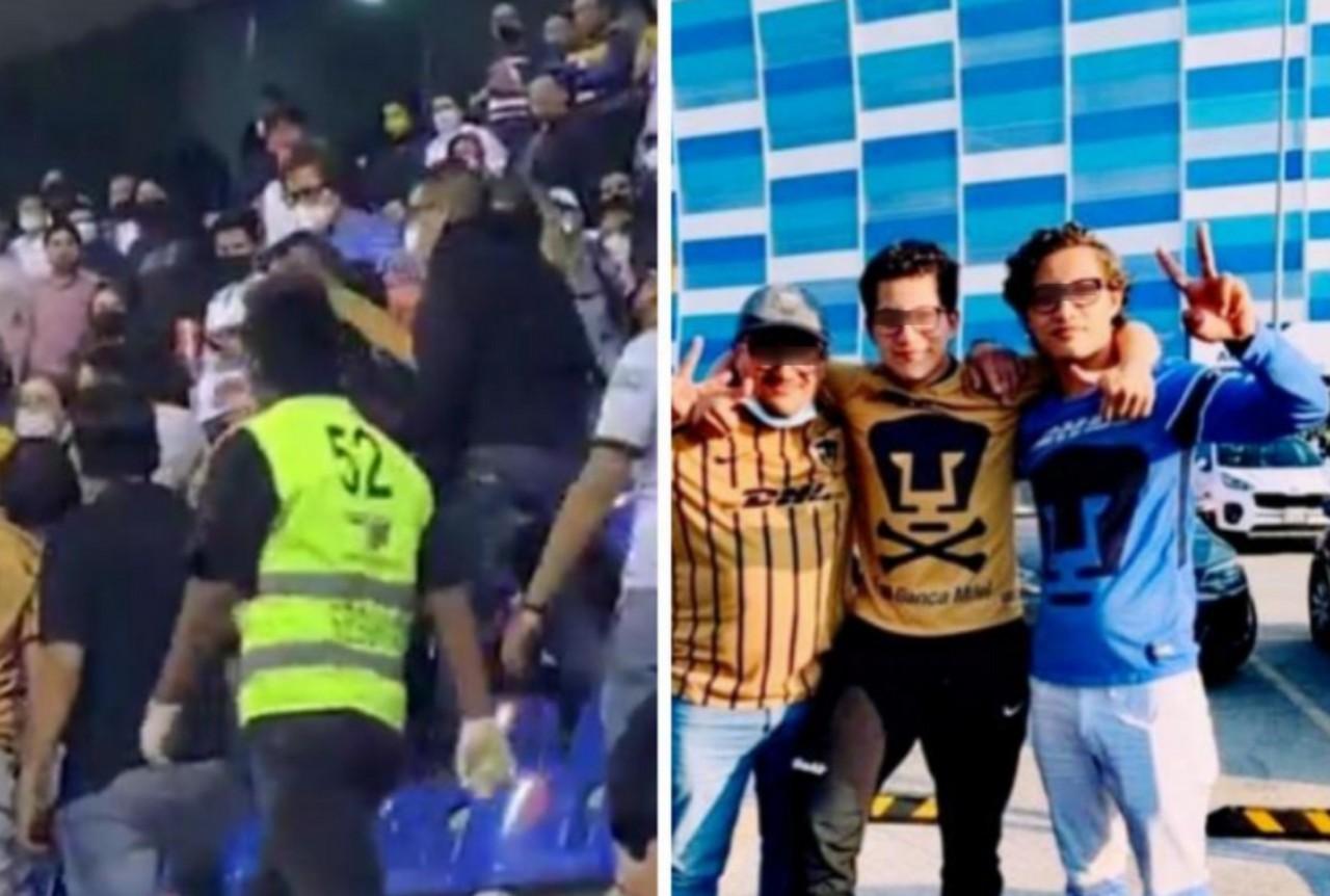 Agresor pateó a una mujer durante el Puebla vs. Pumas