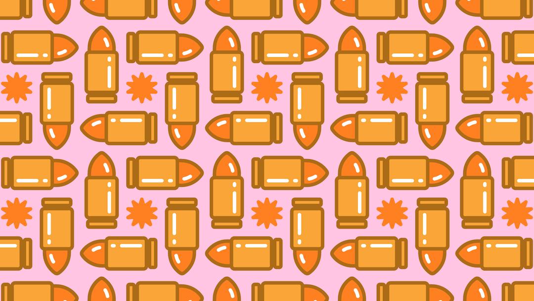 Encuentra dos casquillos de bala, ilustración
