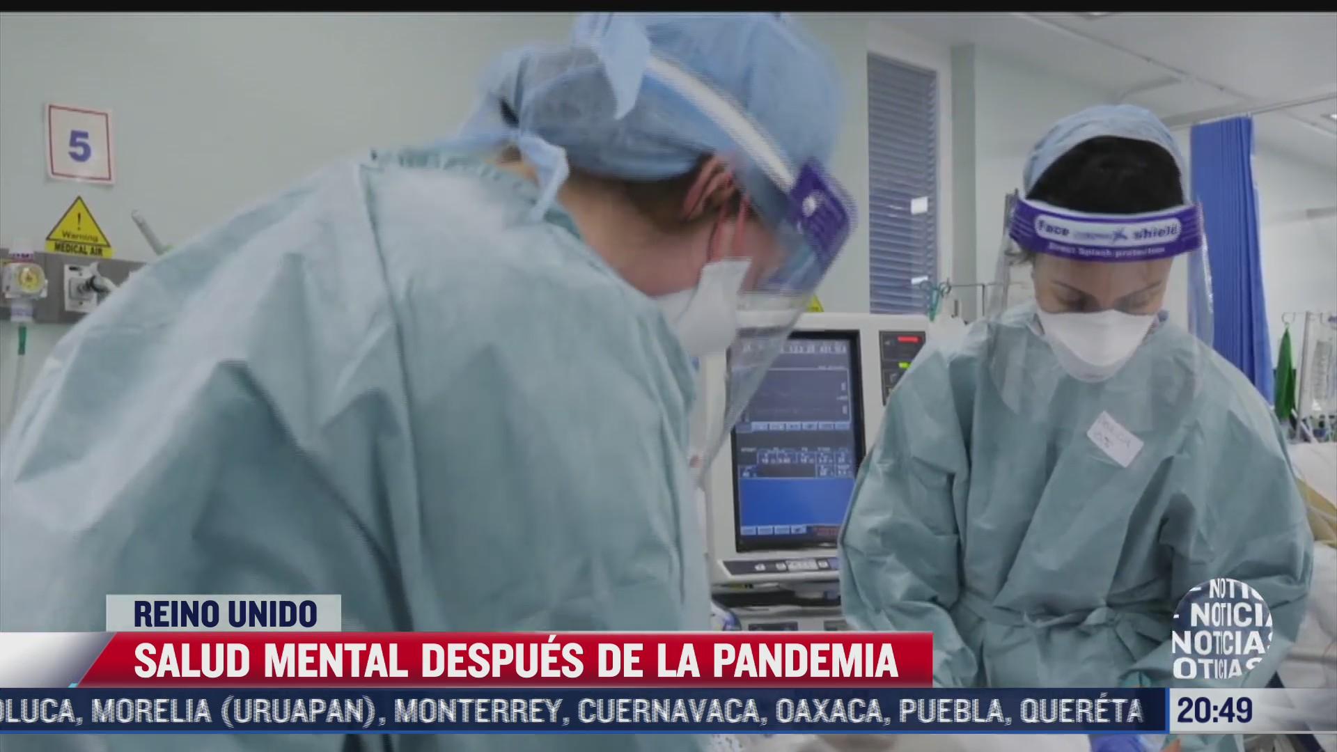 salud mental despues de la pandemia en reino unido