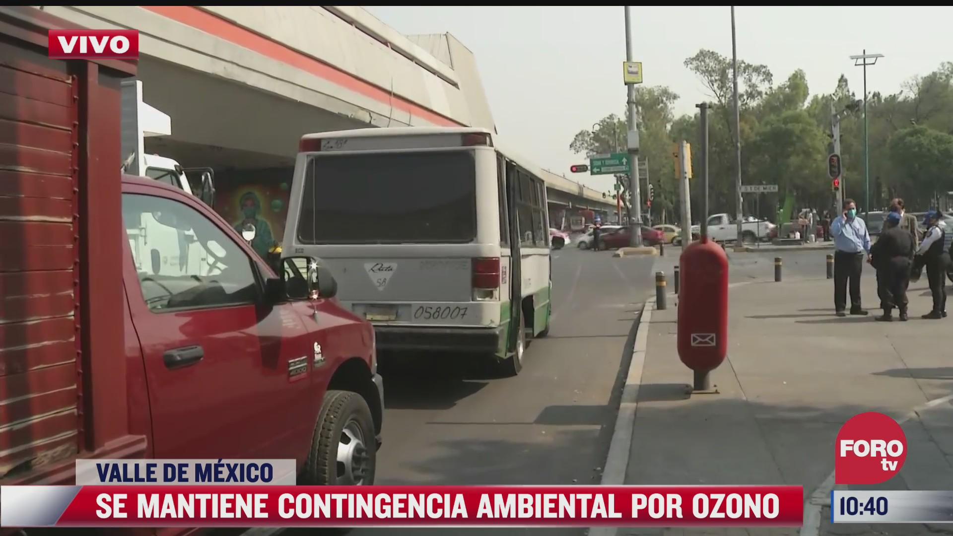 se mantiene contingencia ambiental por ozono