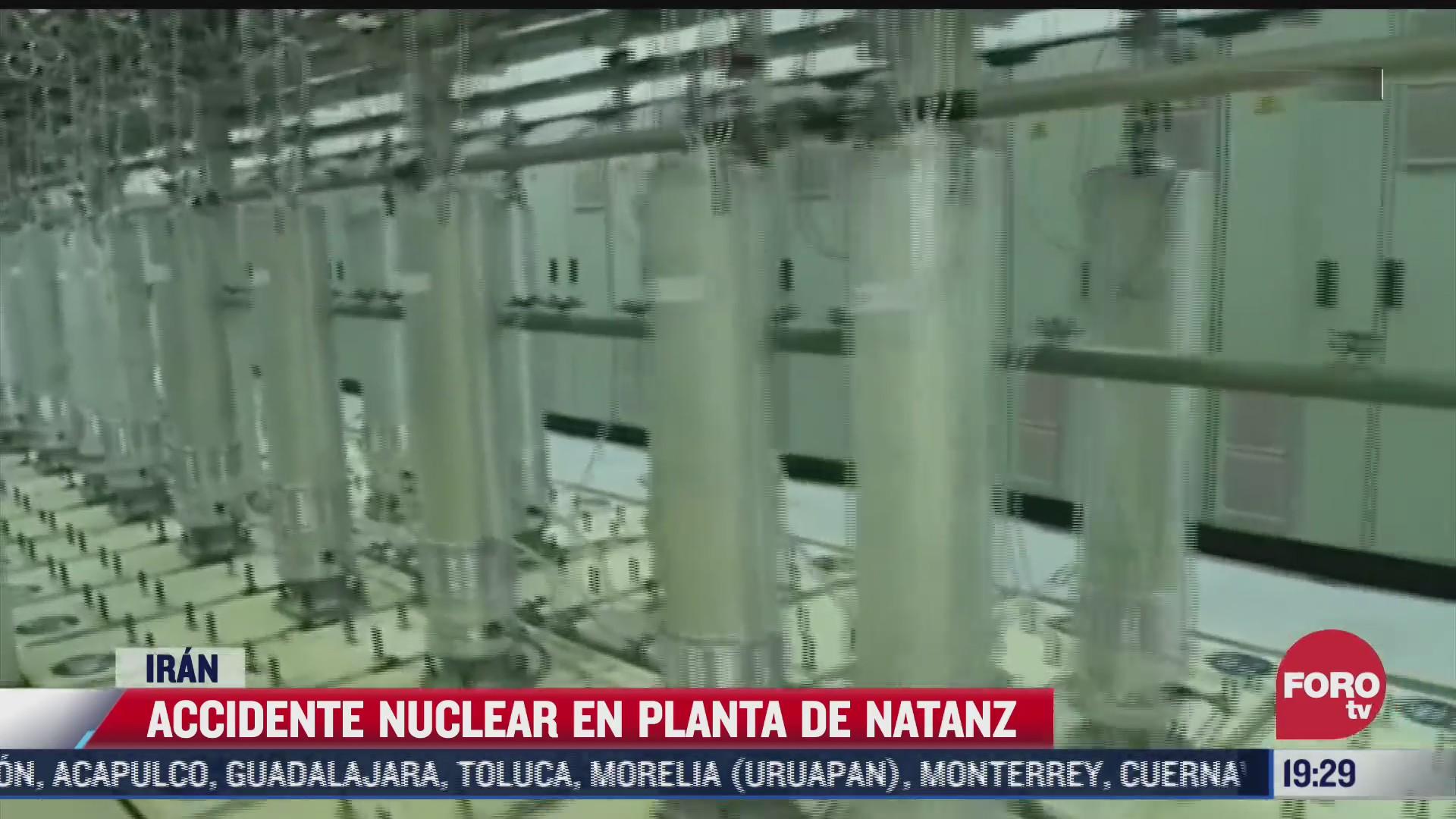 se registra accidente en planta nuclear de iran