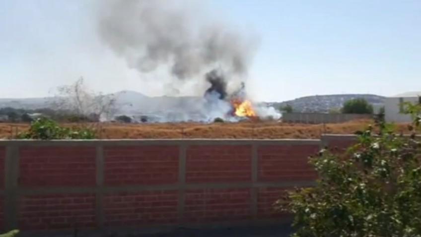 Se registra incendio en empresa de químicos en Corregidora, Querétaro