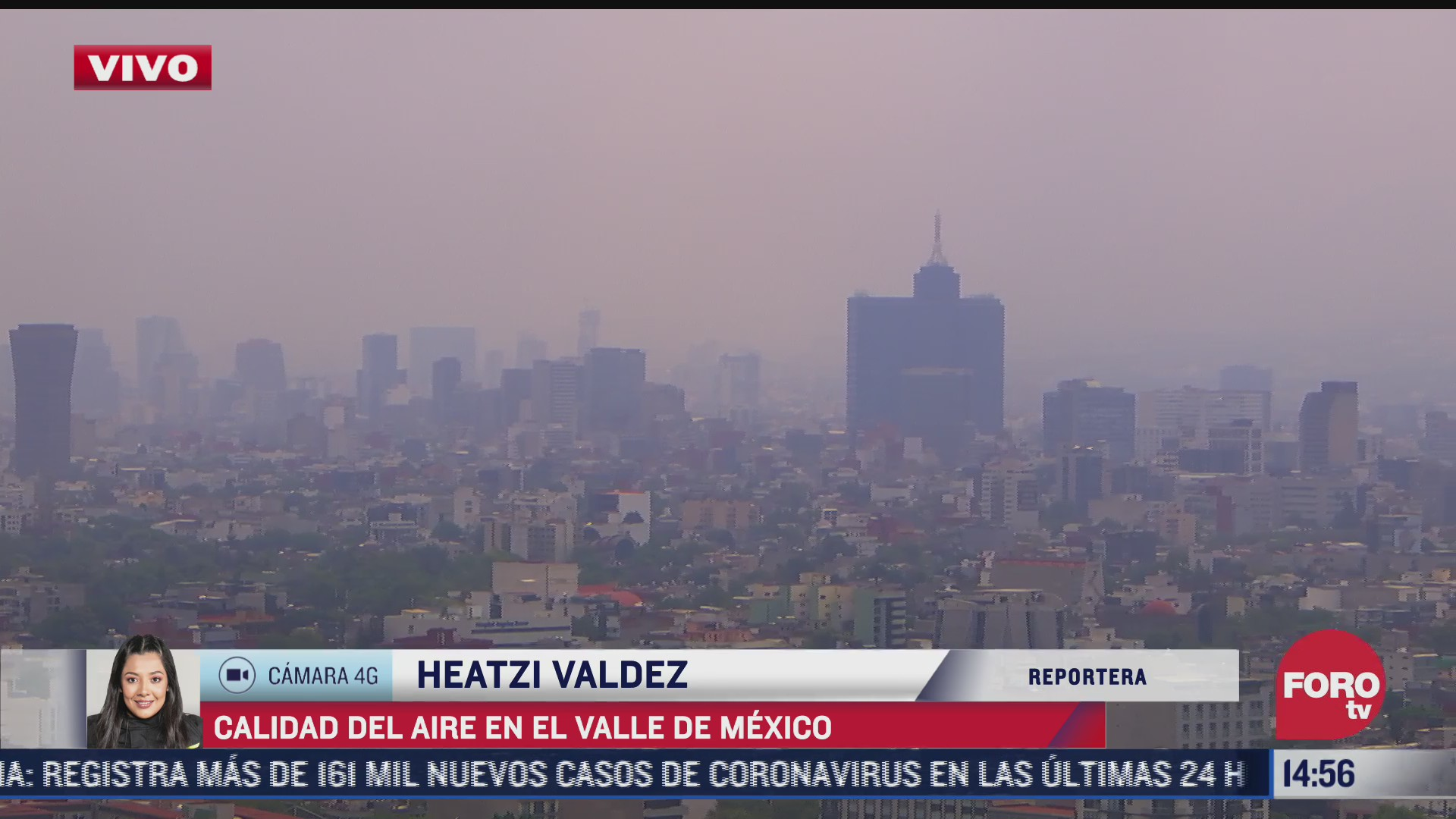 se registra mala calidad de aire en el valle de mexico 13 de abril del