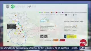 se registra mala calidad del aire en el valle de mexico