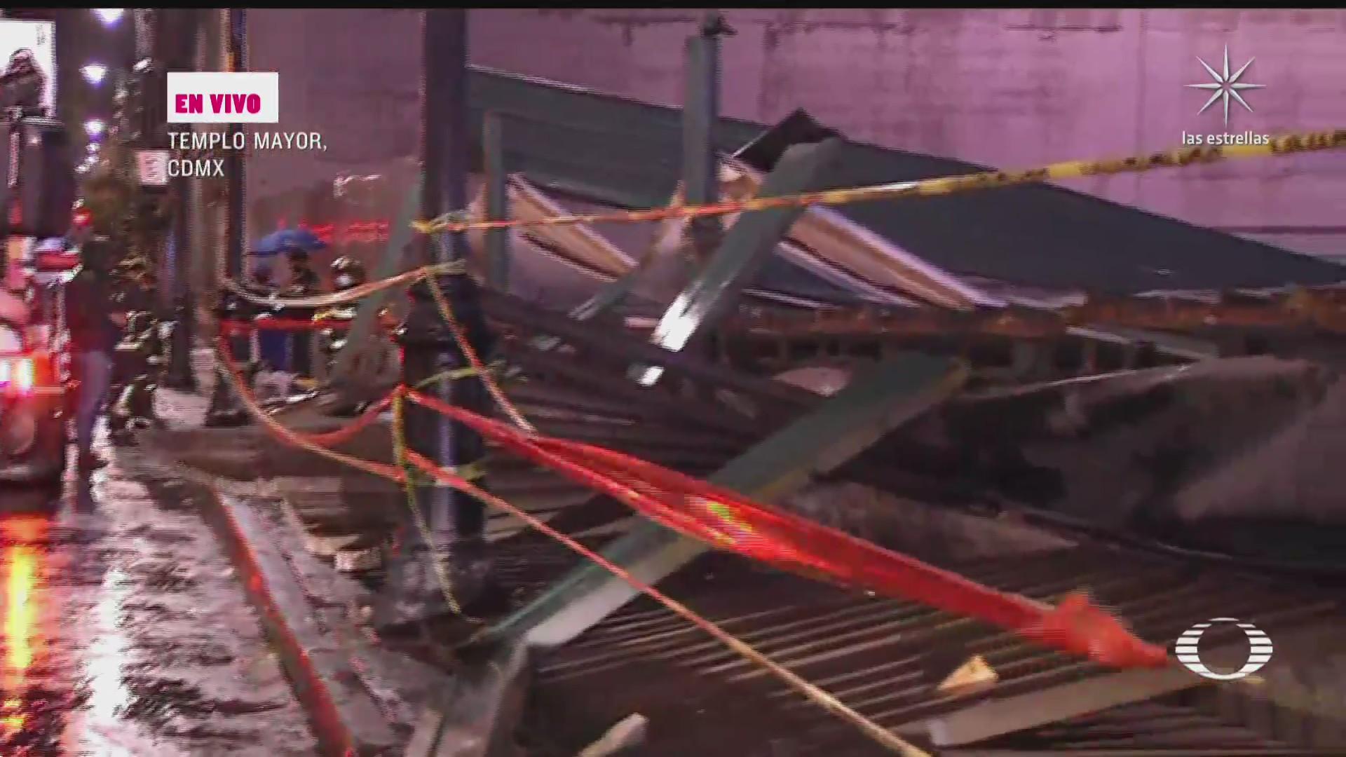 secretaria de cultura inspecciona desplome de techo en templo mayor tras granizada