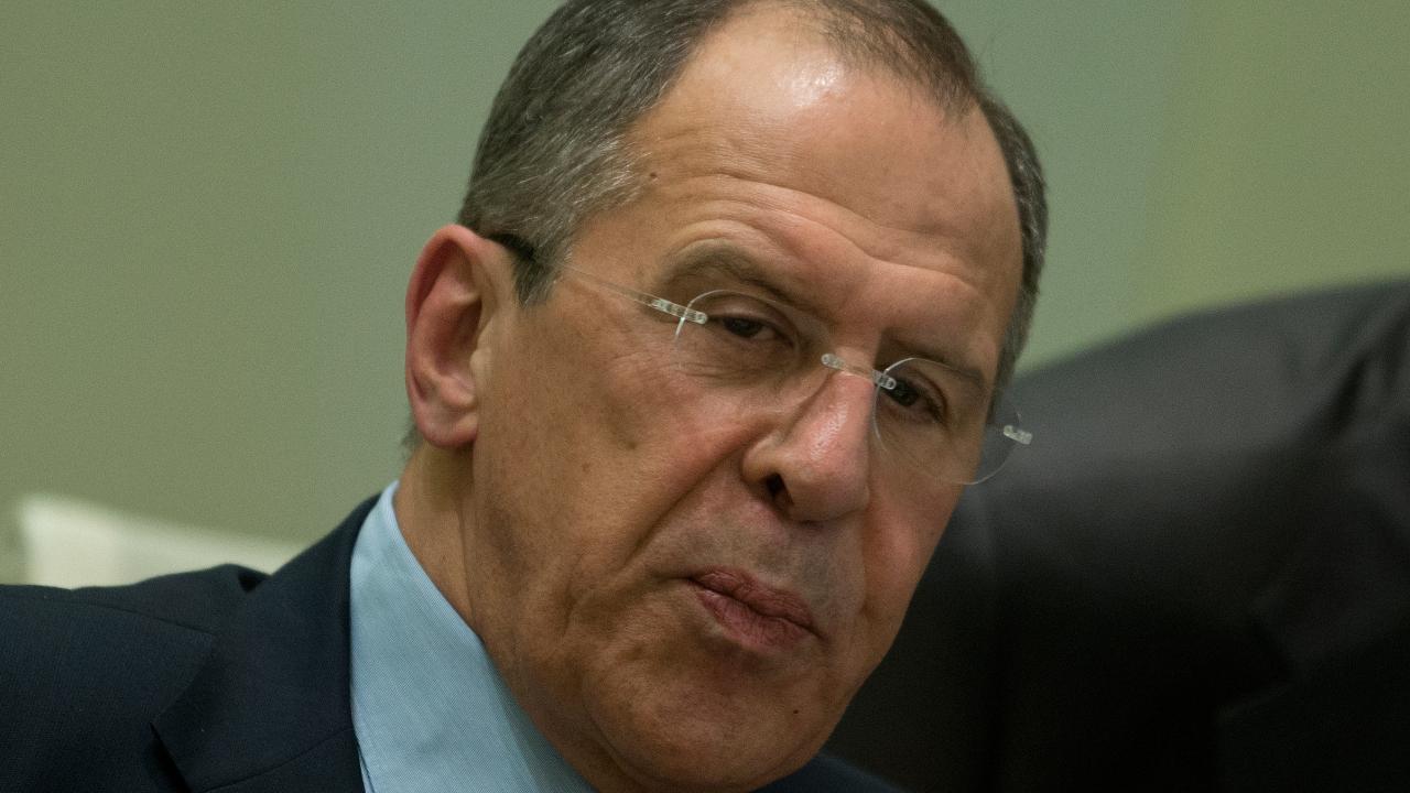 Serguéi Lavrov, el ministro de Exteriores ruso, en una rueda de prensa