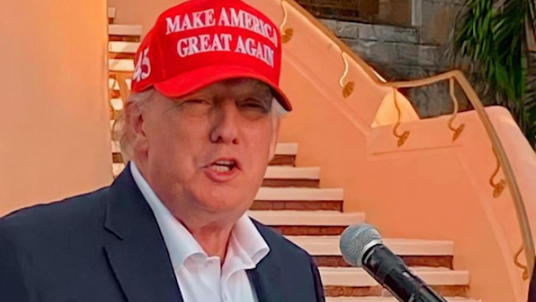 El expresidente Donald Trump, en el centro vacacional Mar-a-Lago, en Florida (Instagram: @firstfamilytrumps_)