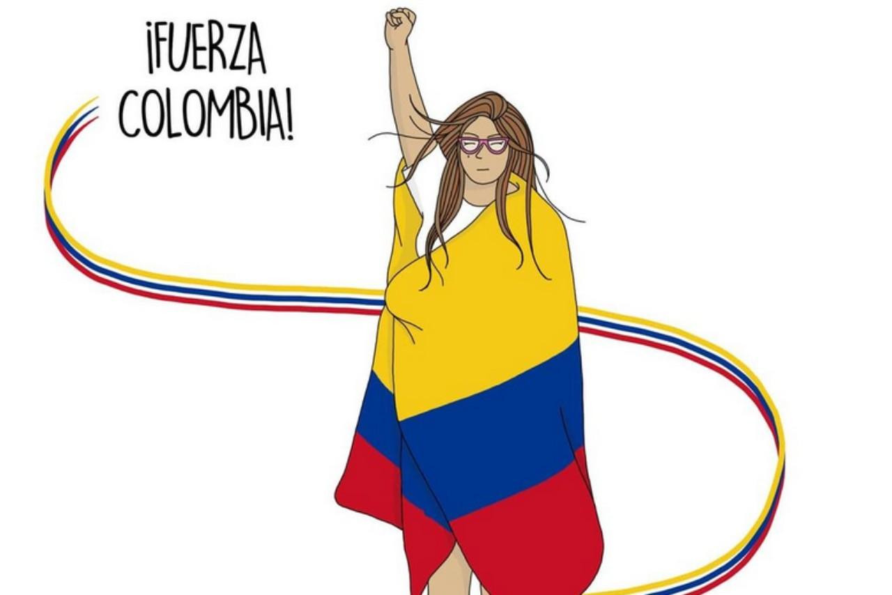 #FuerzaColombia: hacen ilustraciones en apoyo a Colombia