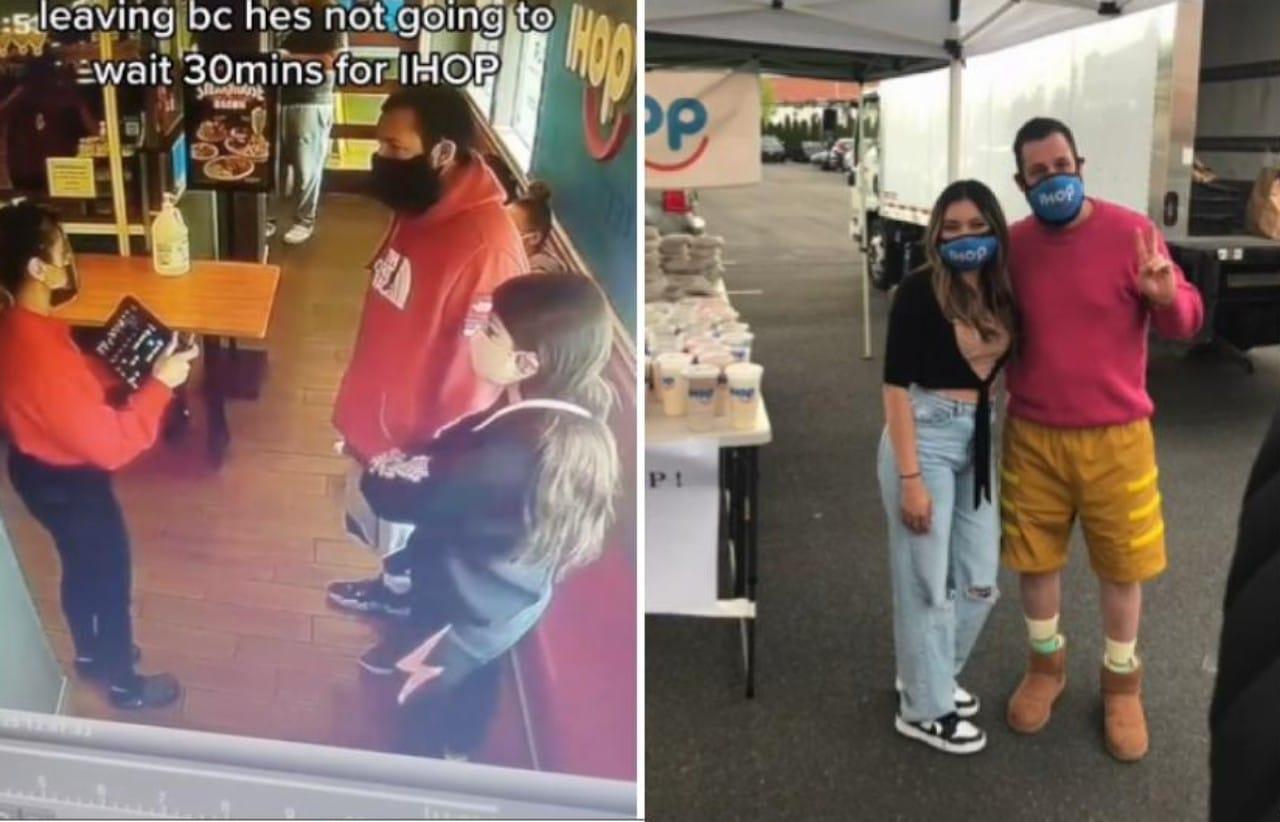 Adam Sandler se reúne con mesera que no lo reconoció en IHOP
