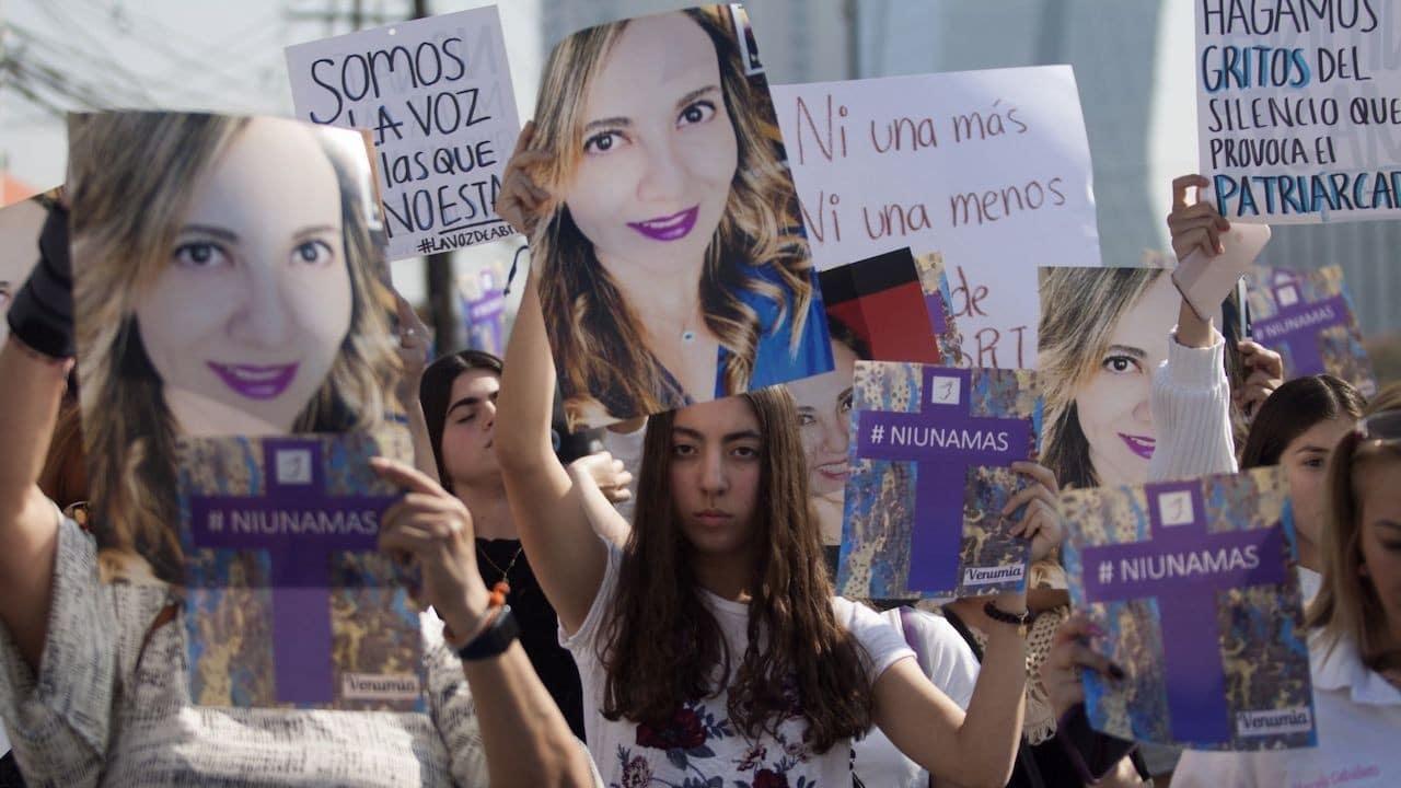 Manifestantes exigen justicia en caso Abril Pérez Sagaón (Cuartoscuro, archivo)