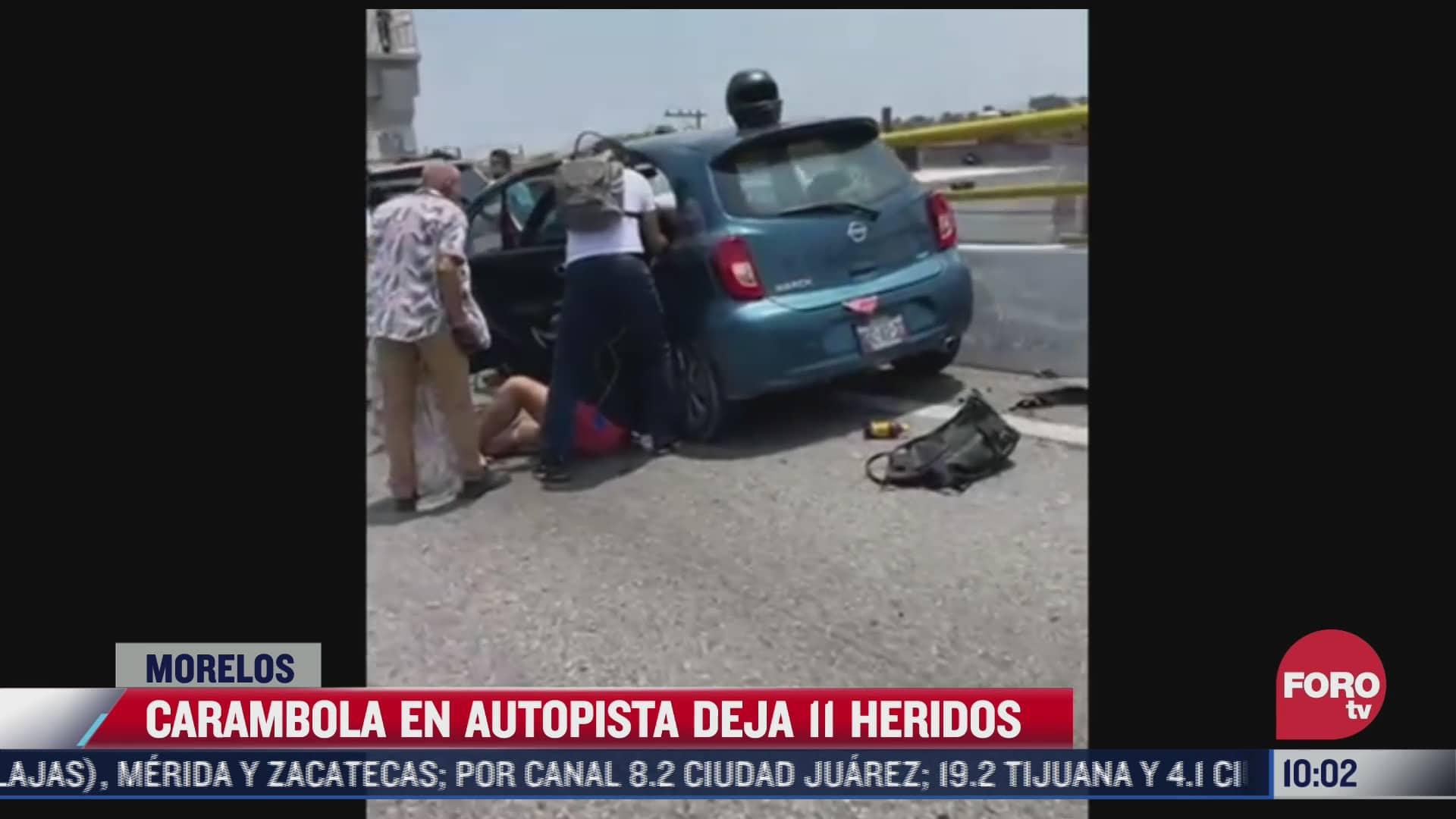 al menos 11 heridos tras carambola en autopista cuernavaca acapulco