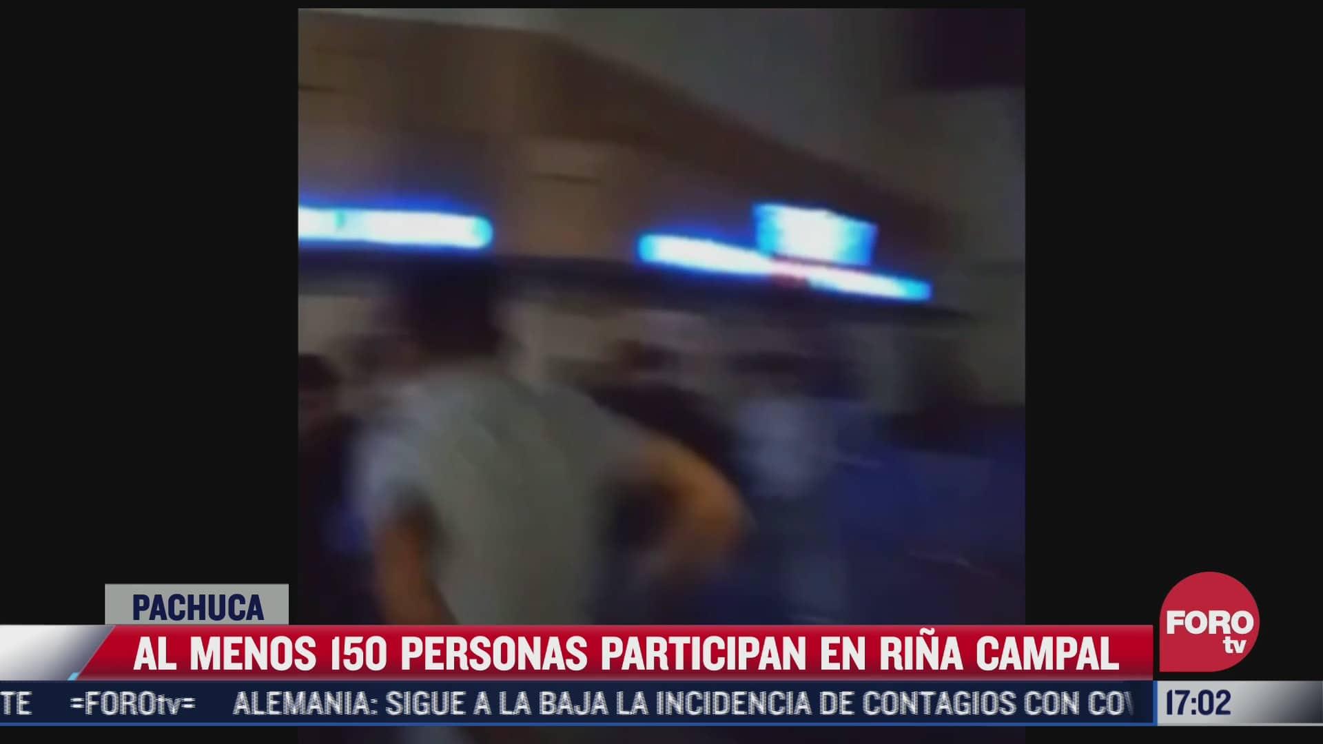 al menos 150 personas participan en rina campal en pachuca