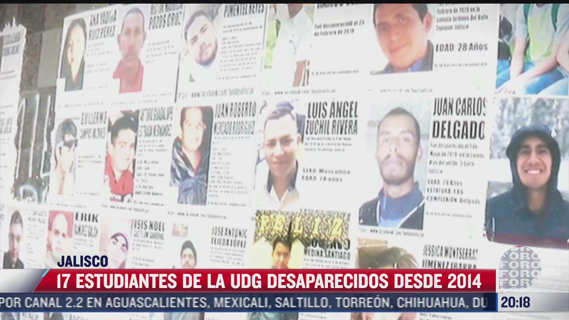 al menos 17 estudiantes de la udg han desaparecido desde