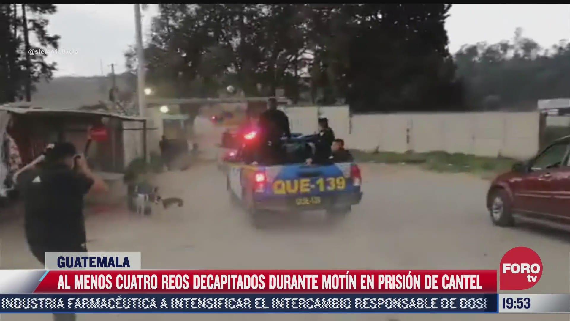 al menos 4 reos decapitados durante motin en prision en guatemala
