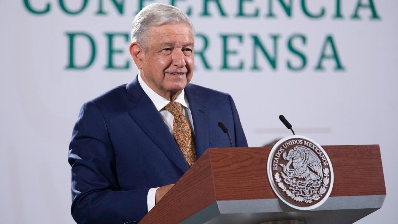 Andrés Manuel López Obrador durante la conferencia matutina