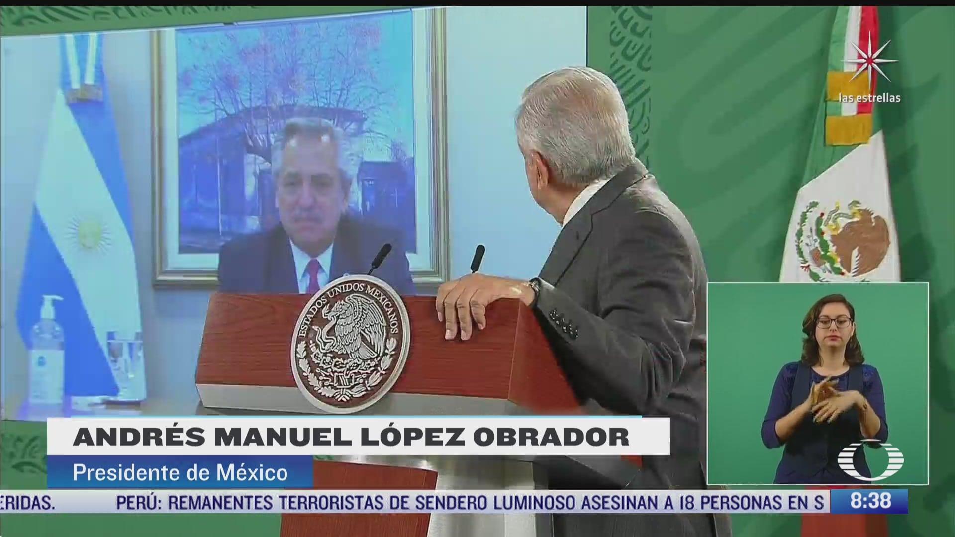 amlo habla con presidente de argentina sobre produccion de vacuna covid 19 de astrazeneca