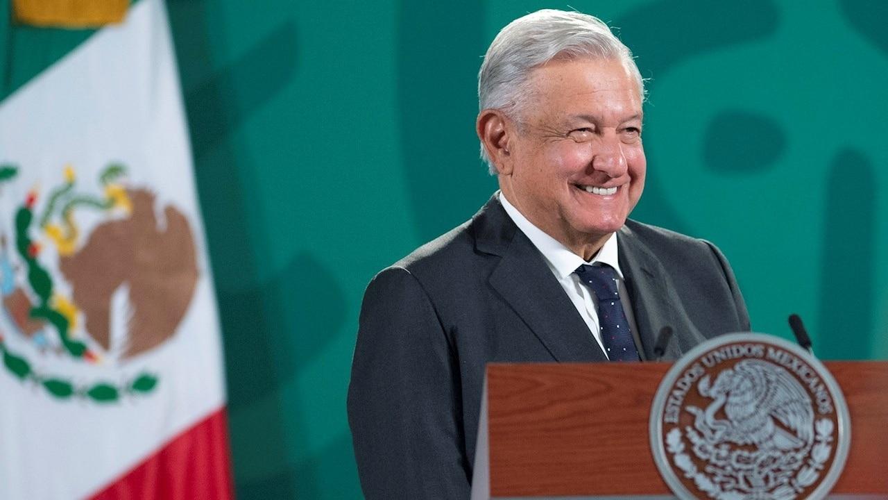 Andrés Manuel López Obrador presidente de México durante su conferencia mañanera