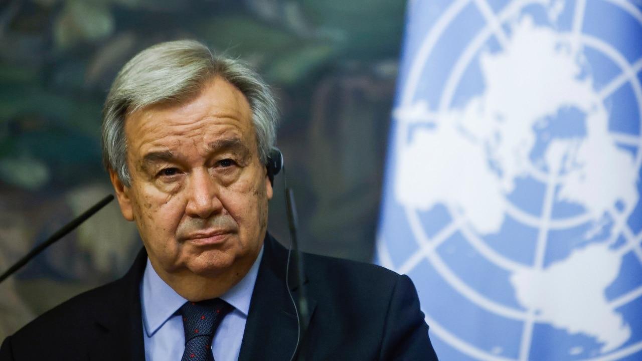 En la imagen el secretario general de la ONU, António Guterres