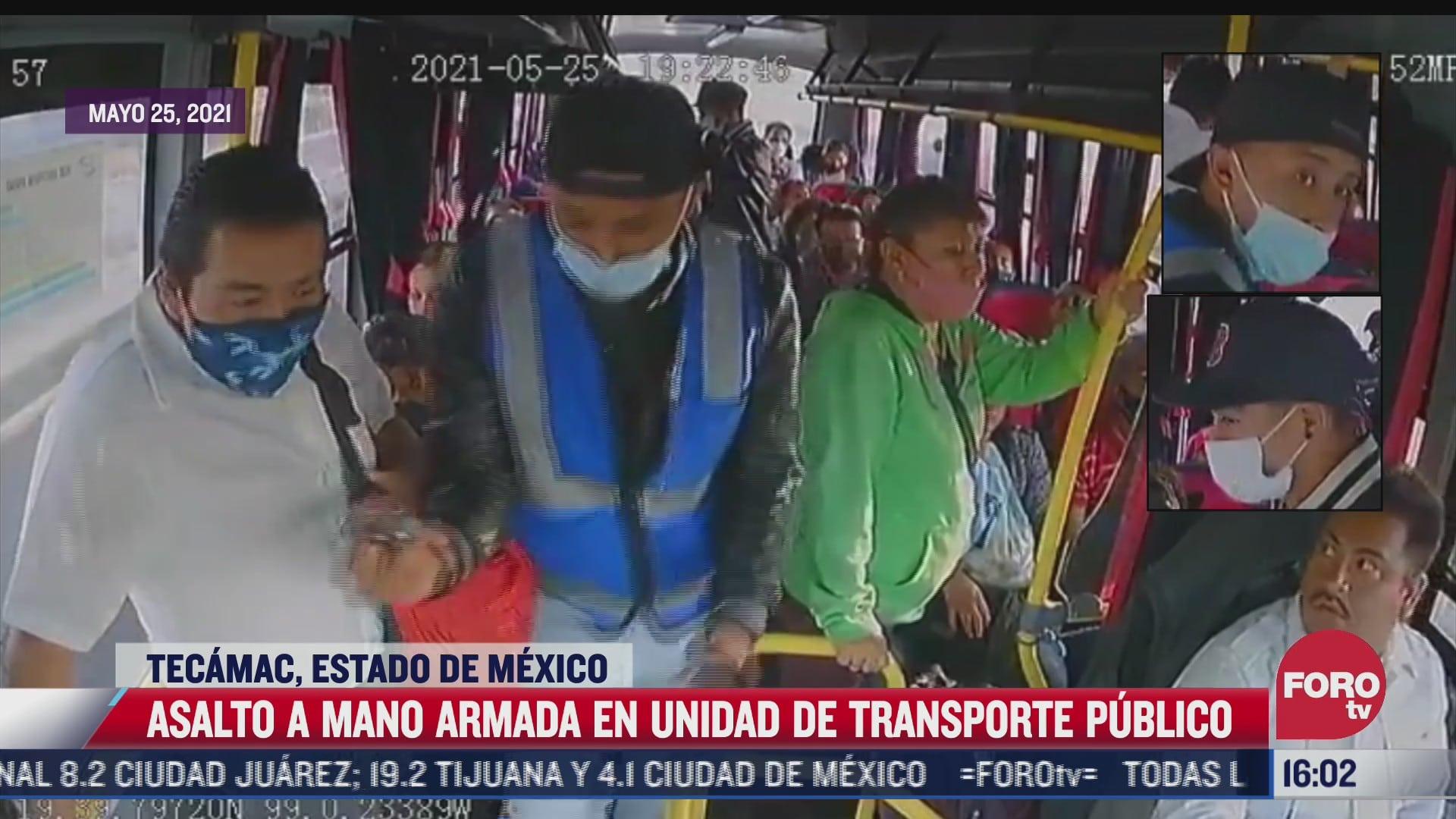 asaltan con violencia a usuarios de transporte publico en tecamac