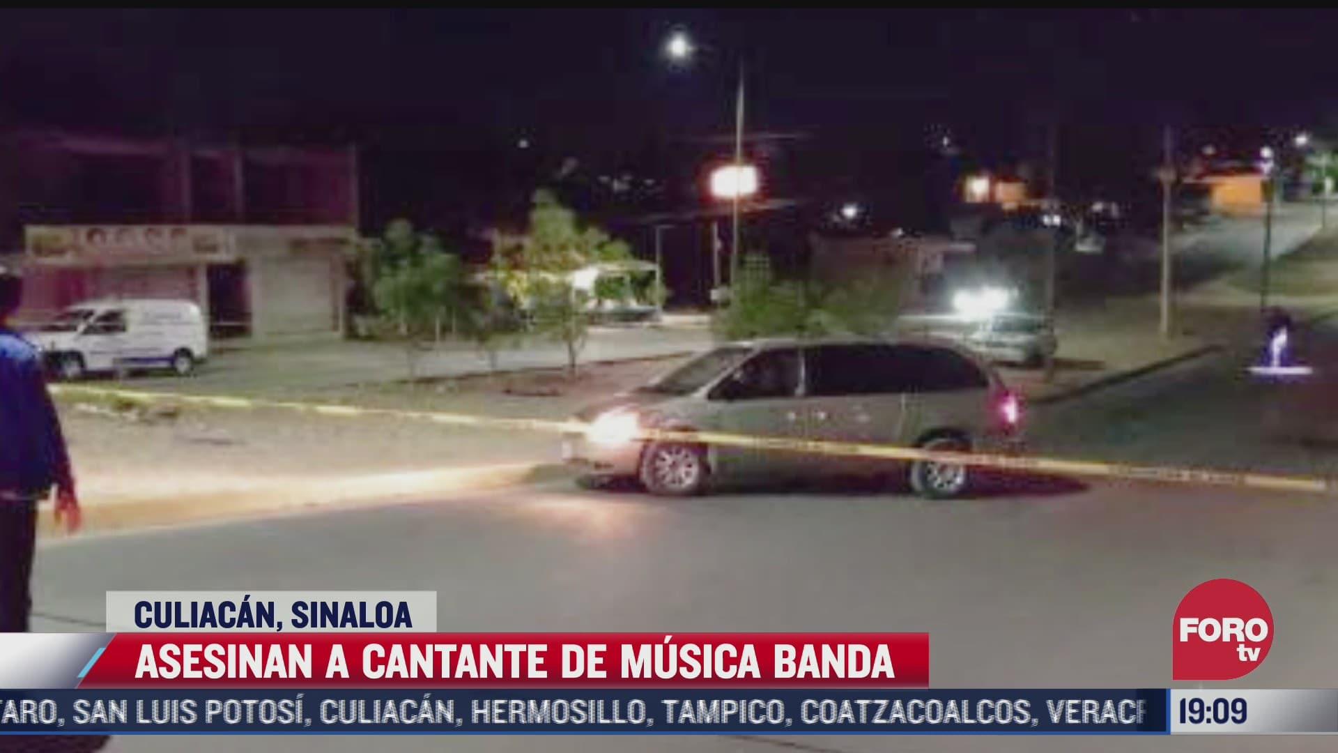 asesinan a cantante de banda en sinaloa