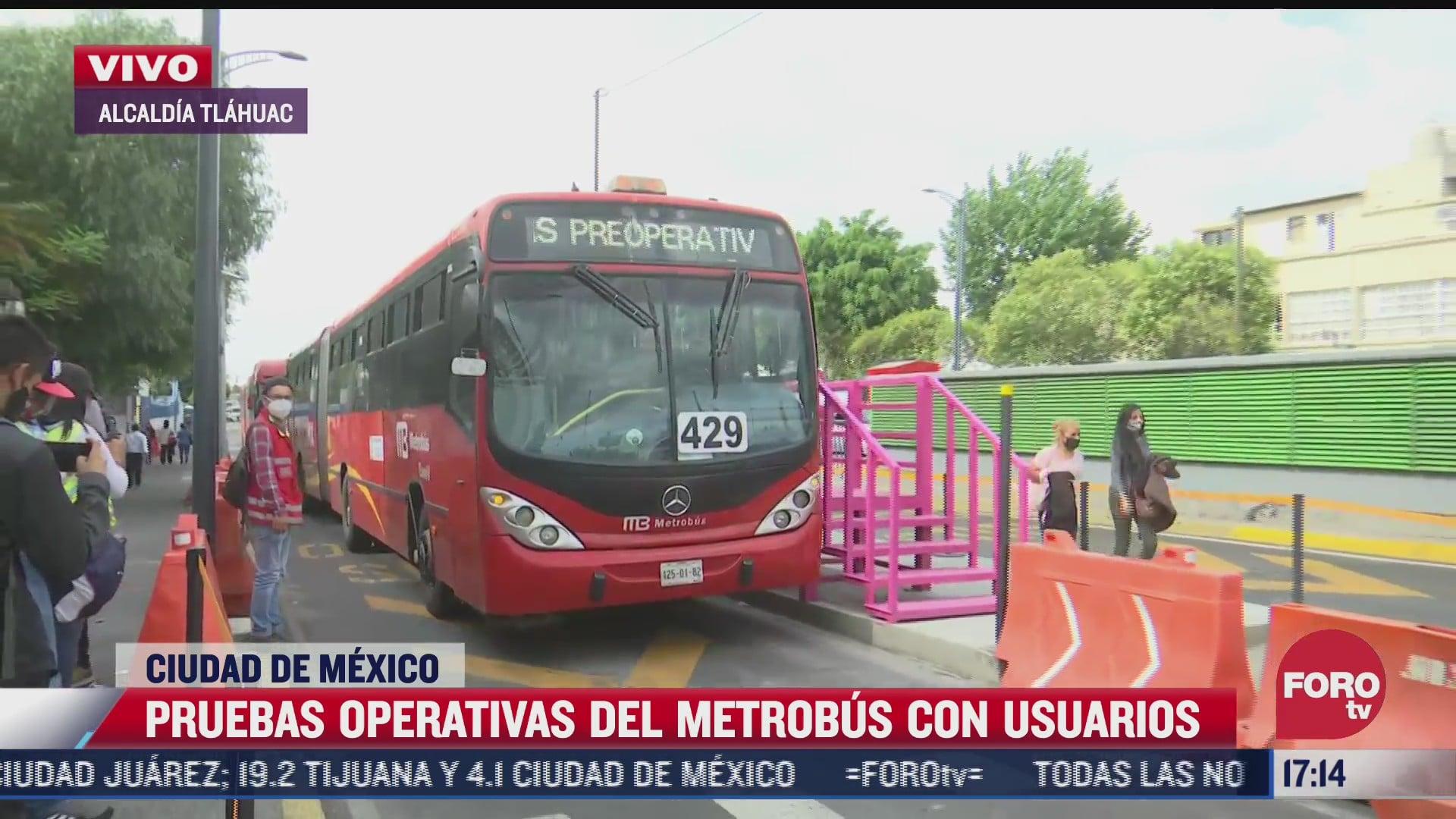asi funcionara metrobus emergente en tramo de linea