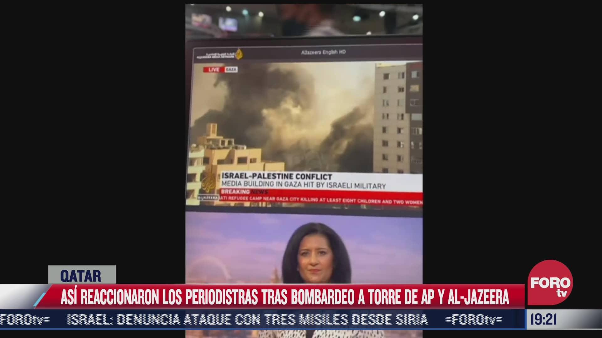 asi reaccionaron los periodistas tras bombardeo a torre de ap y al jazeera