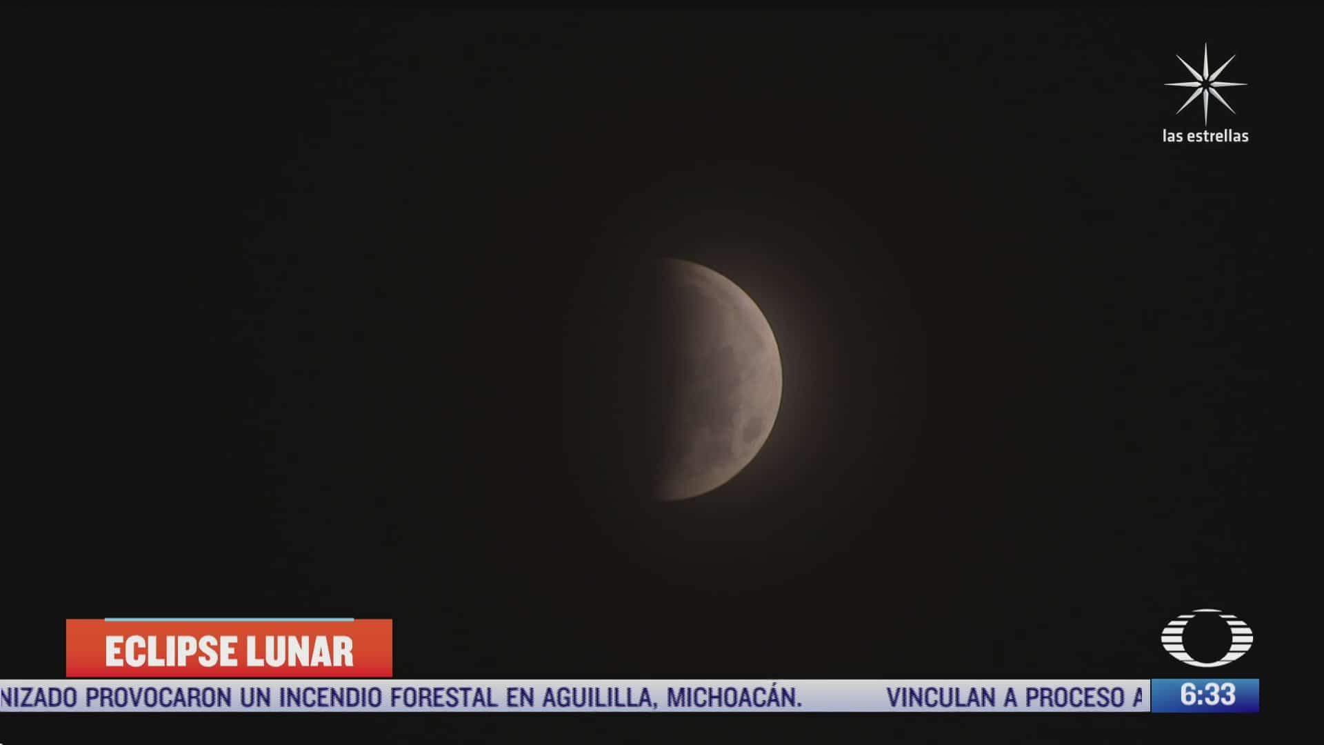 asi se vio la superluna y el primer eclipse lunar del ano