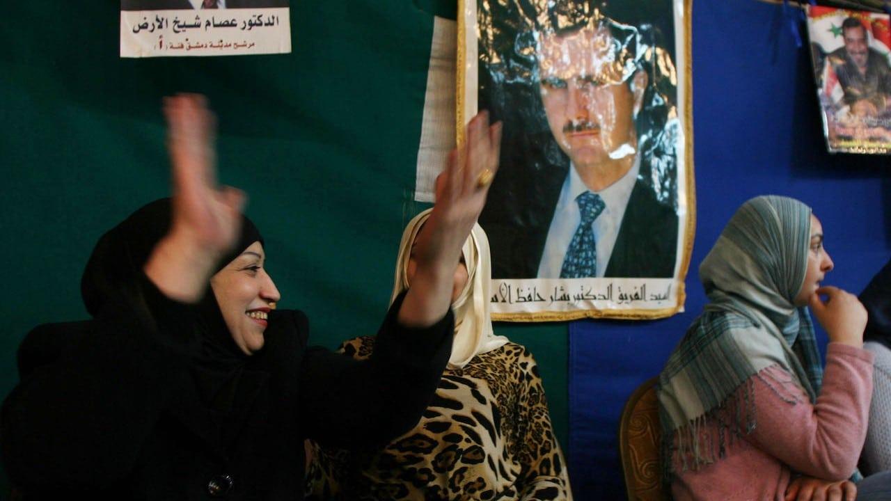 Habitantes de Siria tras las elecciones presidenciales (Getty Images)