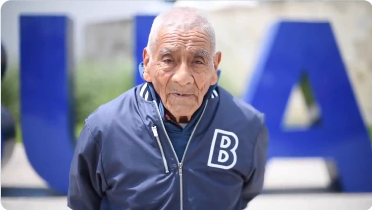 don Felipe, abuelito, BUAP, ingeniero, captura de pantalla