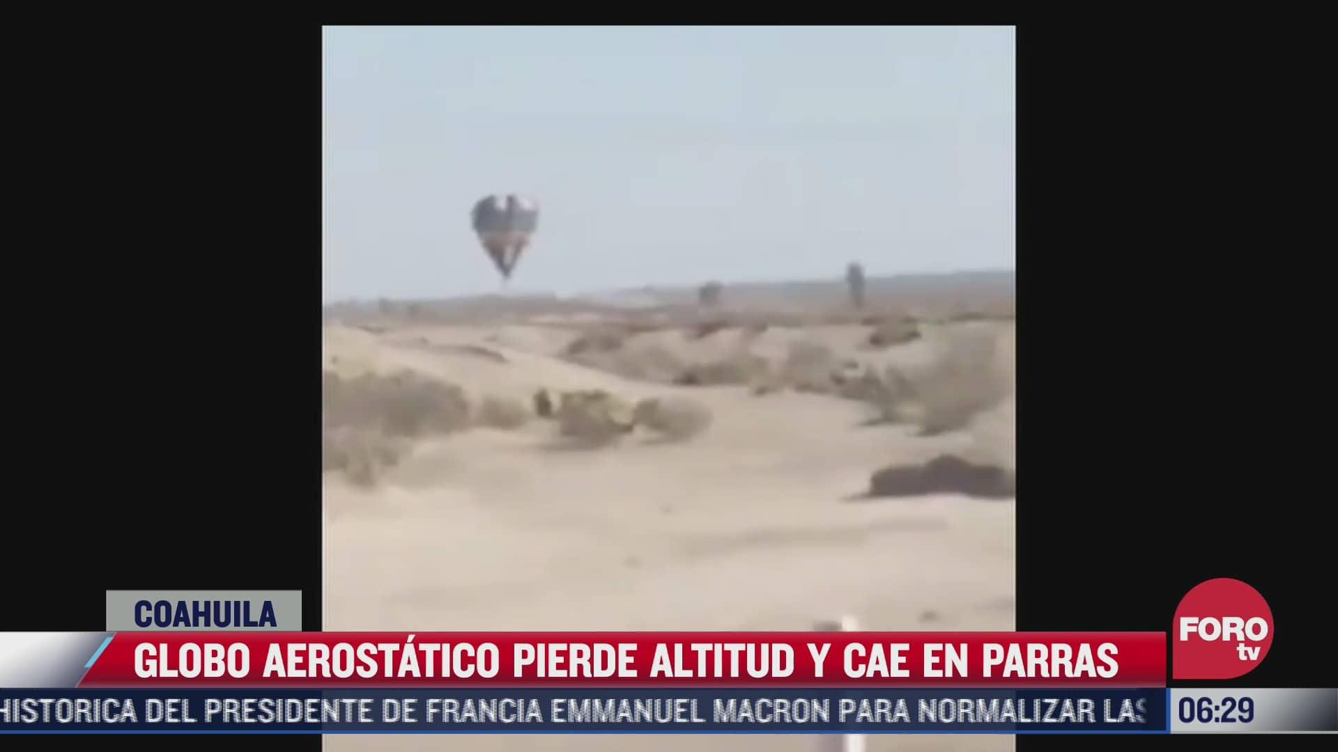 cae globo aerostatico en pleno vuelo en coahuila hay tres lesionados