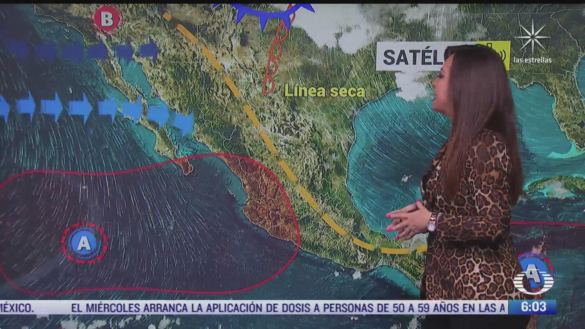 canal de baja presion provocara lluvias en mexico