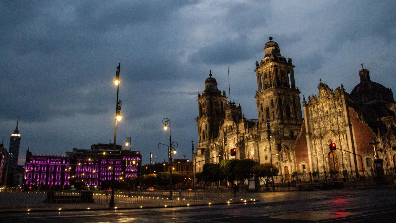 Imagen de la Catedral Metropolitana en el Zócalo Capitalino