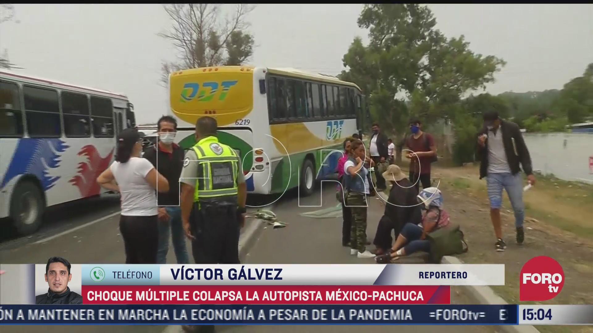 choque multiple colapsa la autopista mexico pachuca