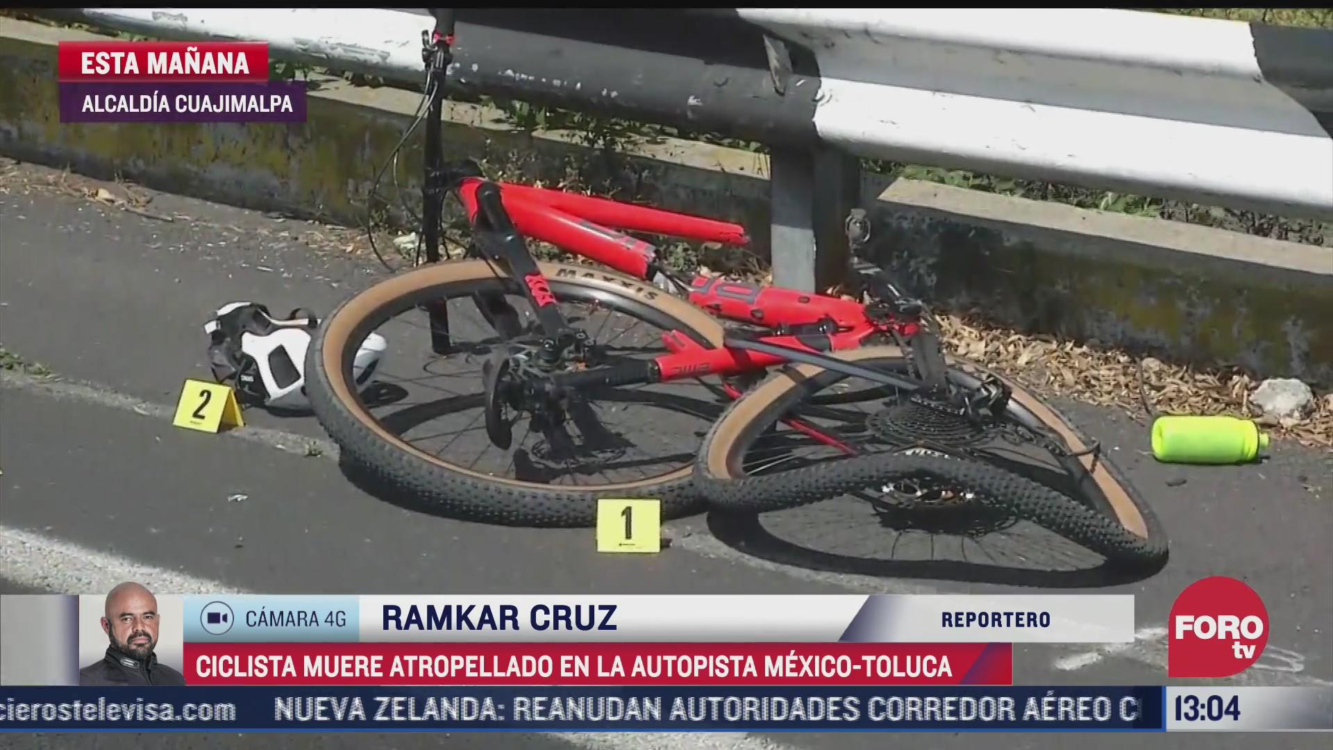 cCiclista muere atropellado en la autopista México-Toluca
