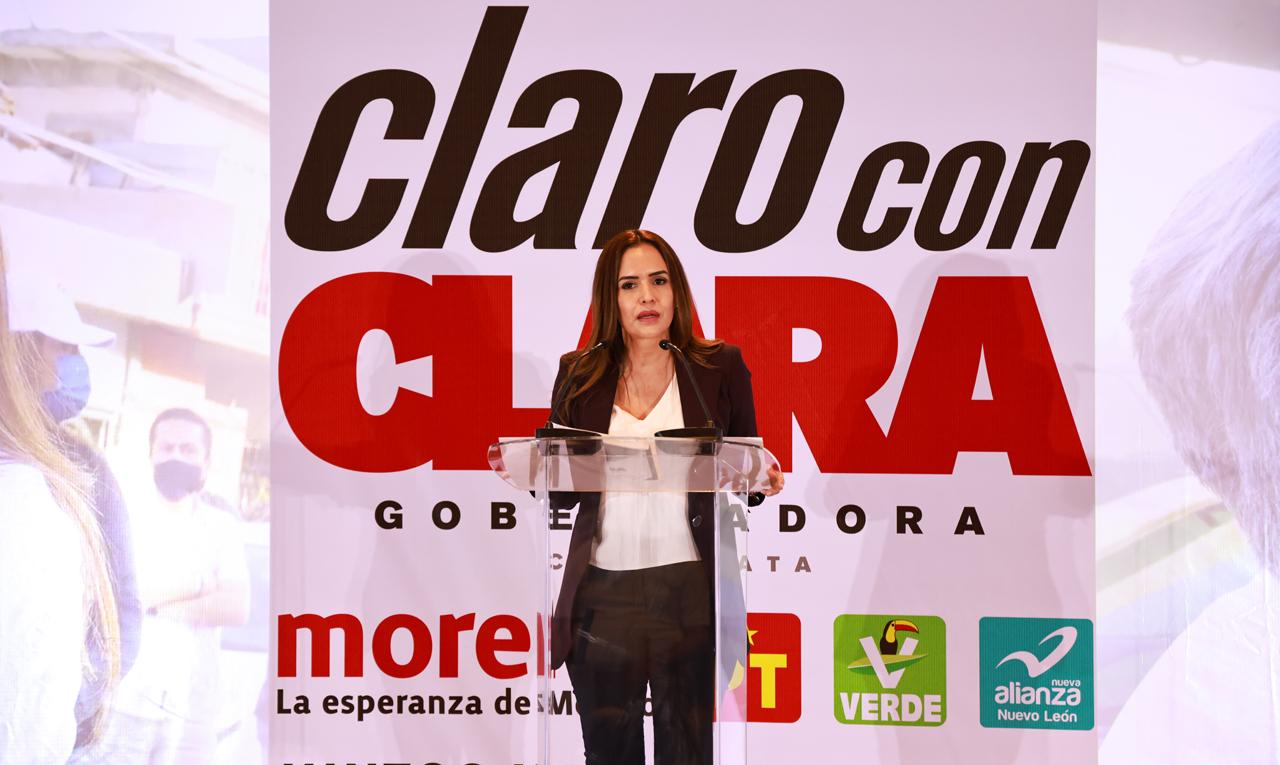 Clara Luz presenta Plan de Gobierno para Estado de Nuevo León