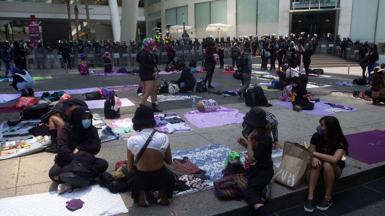 Colectivos feministas en CDMX (Cuartoscuro, archivo)
