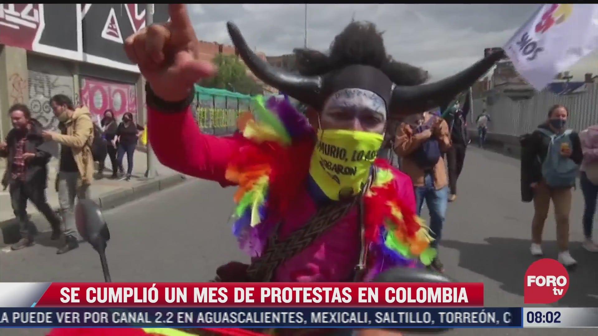 colombia cumple un mes de protestas al menos 50 personas han muerto