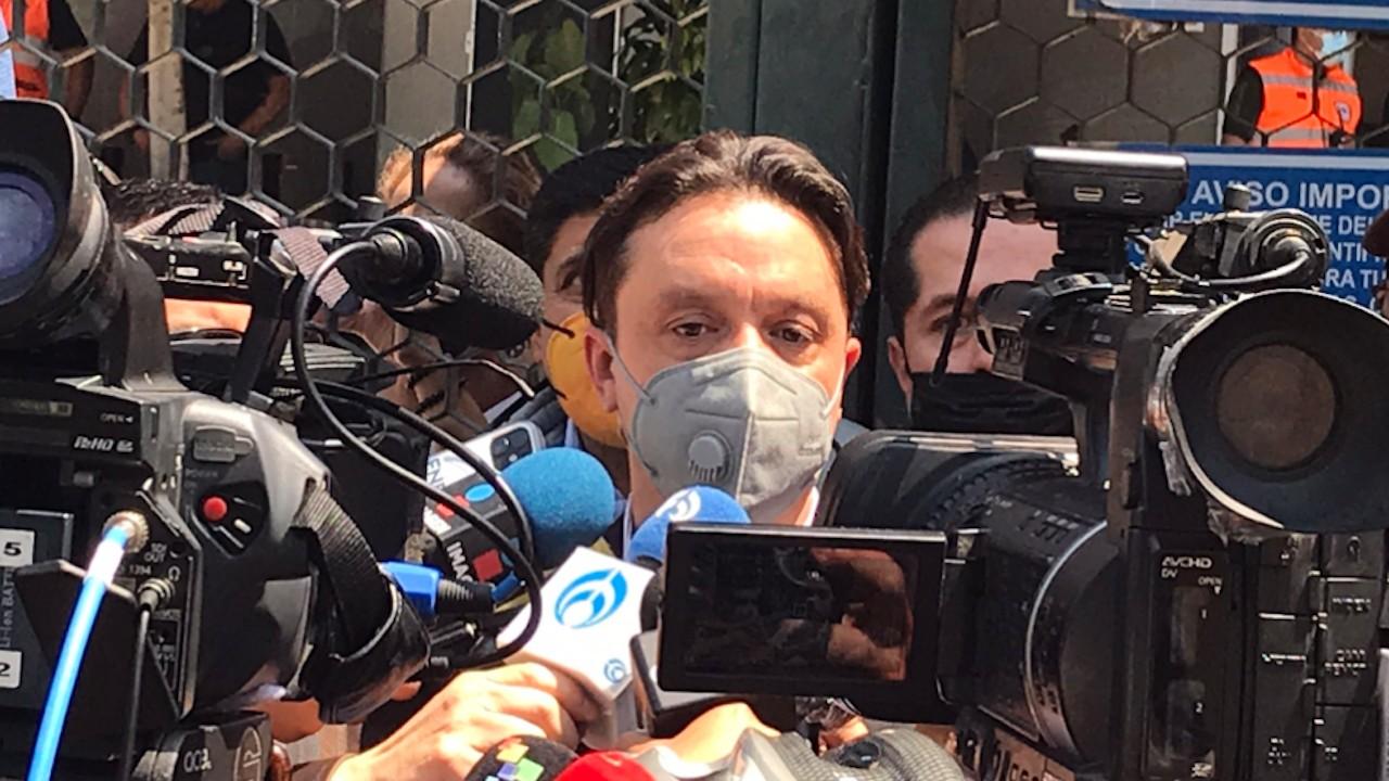 Conferencia de prensa del Sindicato Mexicano de Trabajadores del Metro tras desplome en L12 (Twitter: @tonacisneros76)