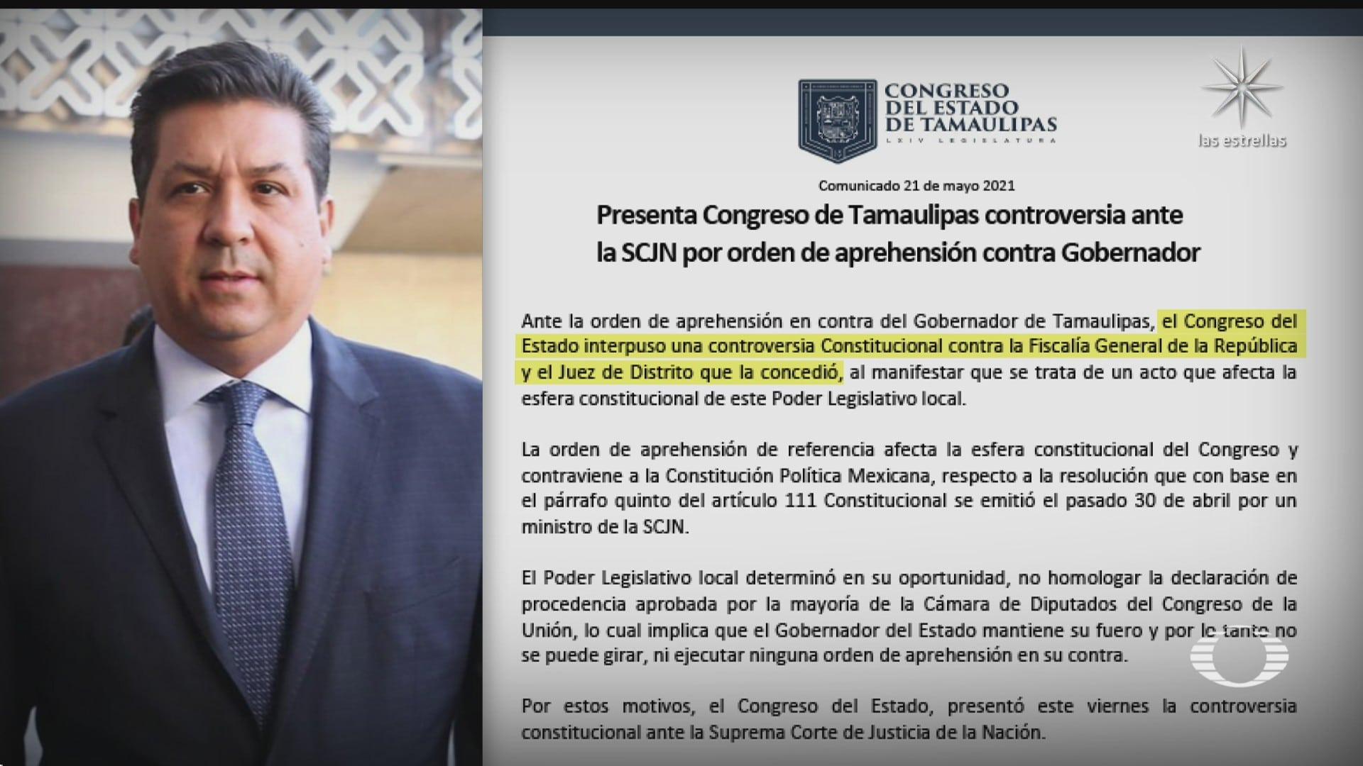 congreso de tamaulipas interpone controversia por situacion del gobernador cabeza de vaca