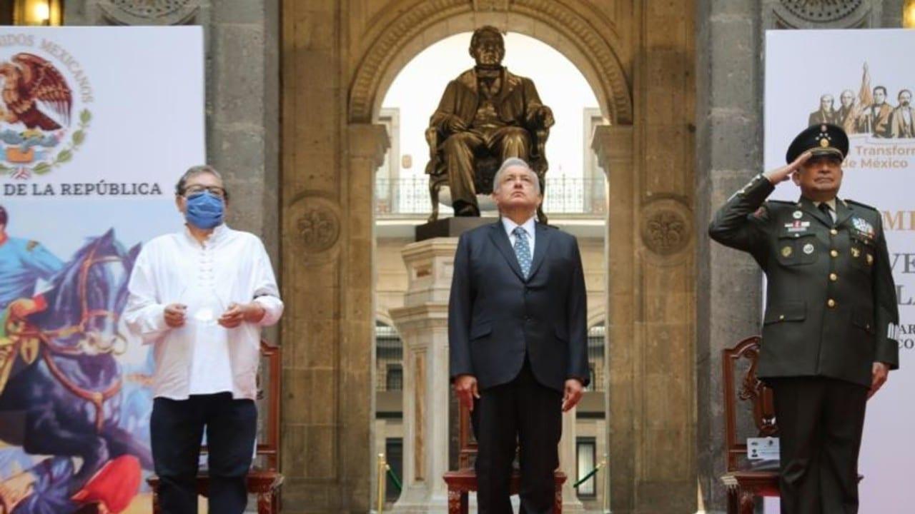 Conmemoración del 5 de mayo en Palacio Nacional