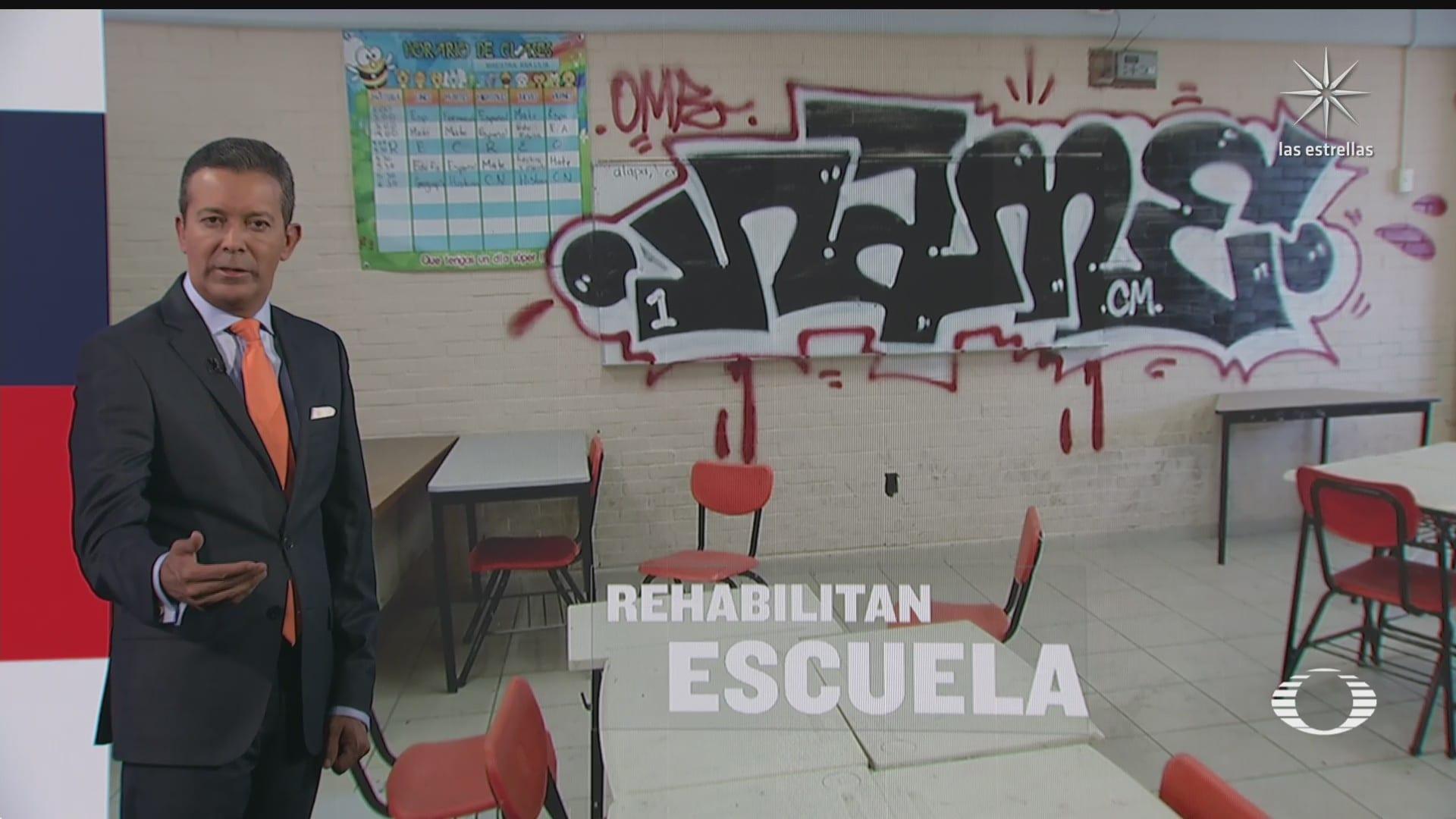 cuatro jovenes causan destrozos en escuela de la alcaldia tlalpan cdmx