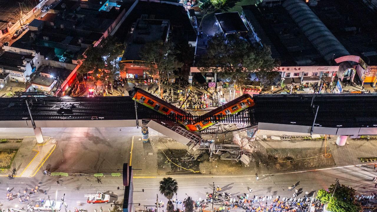Desplome de Metro de Línea 12 en CDMX (Getty Images)