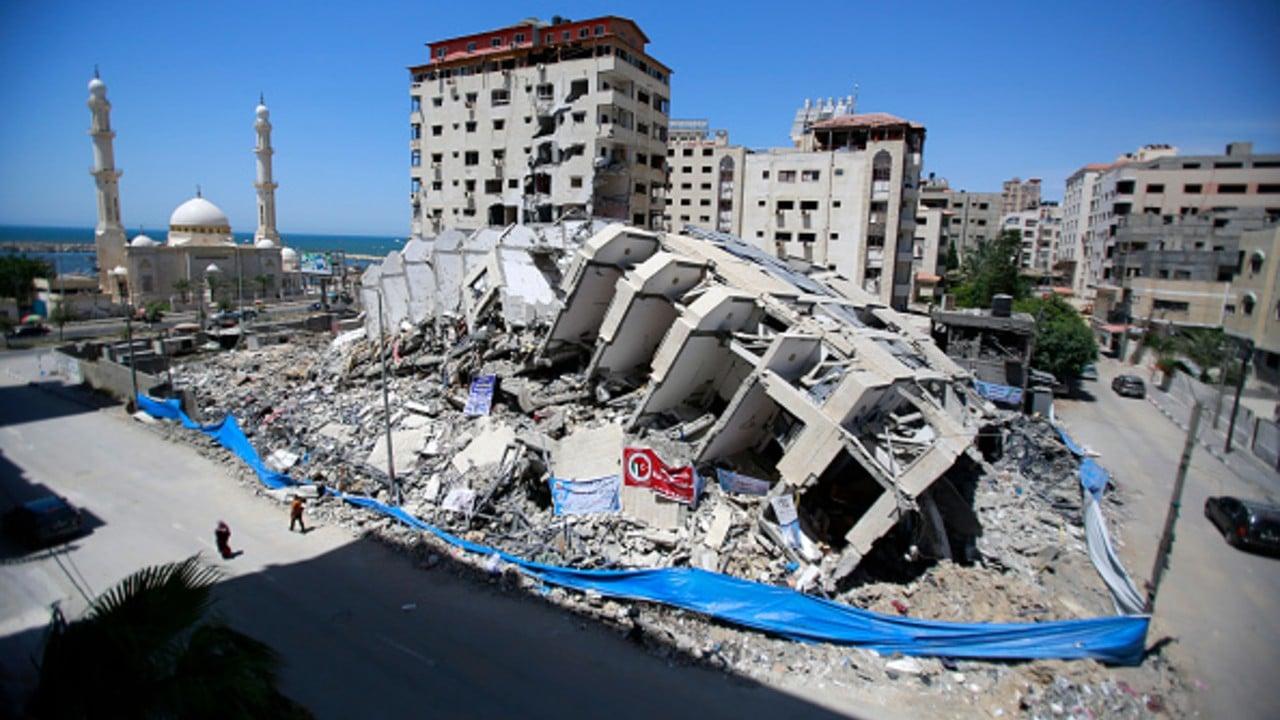 Destrozos en Gaza tras bombardeo de Israel