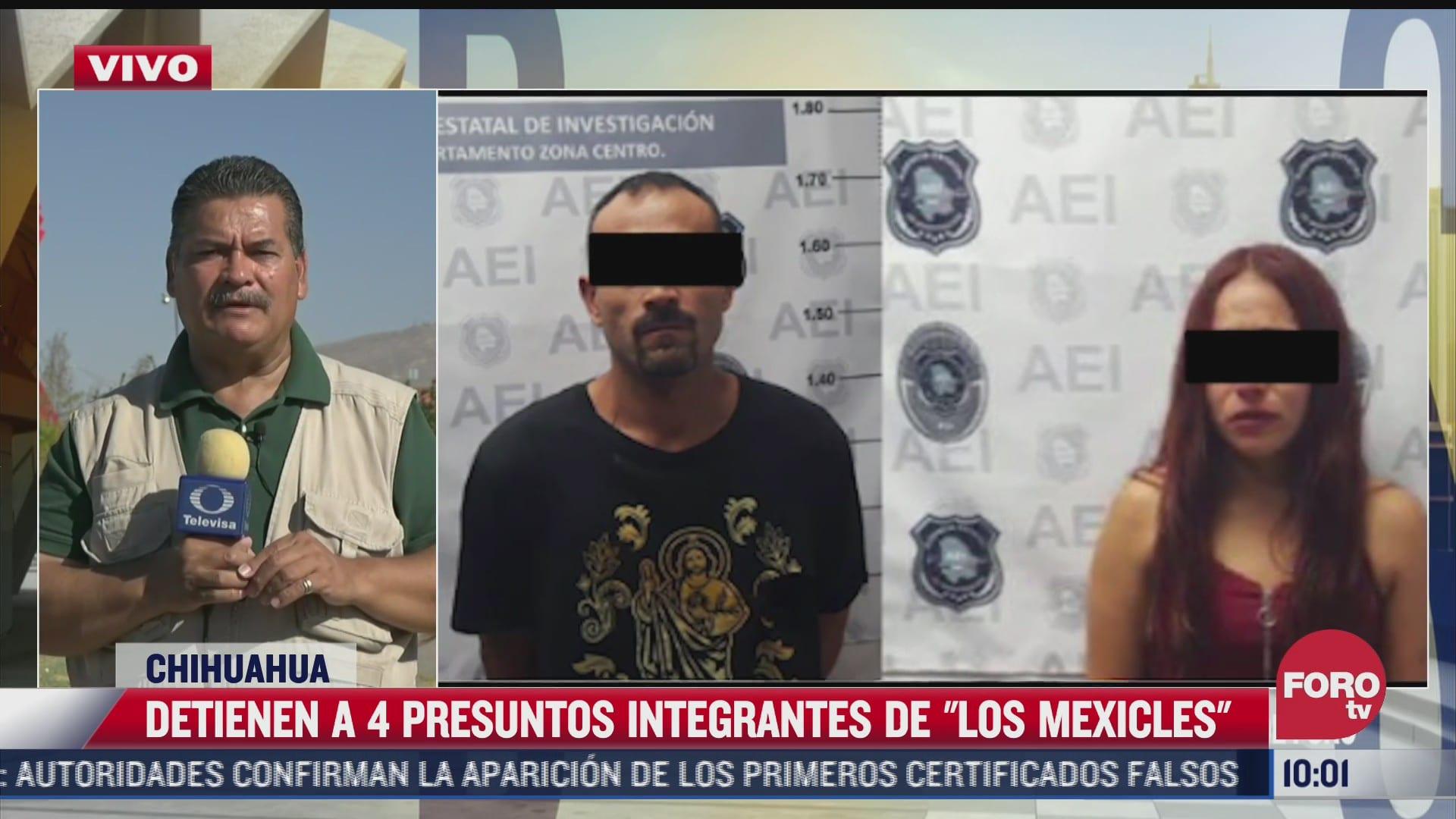 detienen a cuatro presuntos del grupo delictivo los mexicles en chihuahua